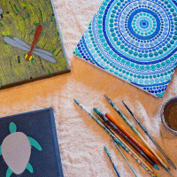 Nangarri Designs by Rowena Morgan. An indigenous artist with a love for country, family and Kimberley colours. Artworks, designs, illustrations, and textiles.